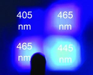 El color de luz emitida por cada LED de VALO